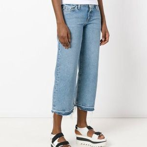 Simon Miller Barney's Crop Kara Wide Leg Jeans
